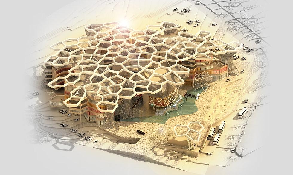 Organic design of the KZN Legislature Parliament building design by SOUNDSPACEDESIGN Architects Sydney
