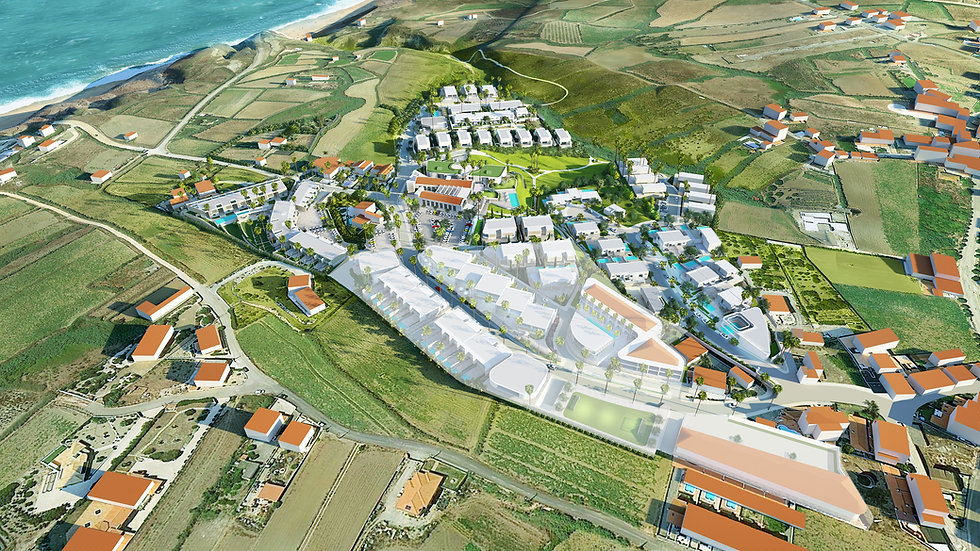 Tourism masterplanned community for Obrana Group at Peralta Beach Portugal by SOUNDSPACEDESIGN Architects Sydney