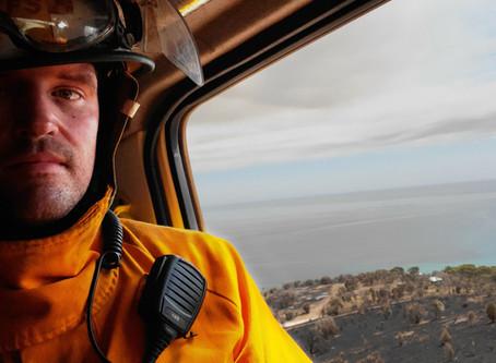 Meet Stevo, SA's friendly 'firey', now on his 4th Kangaroo Island bushfire deployment this season...