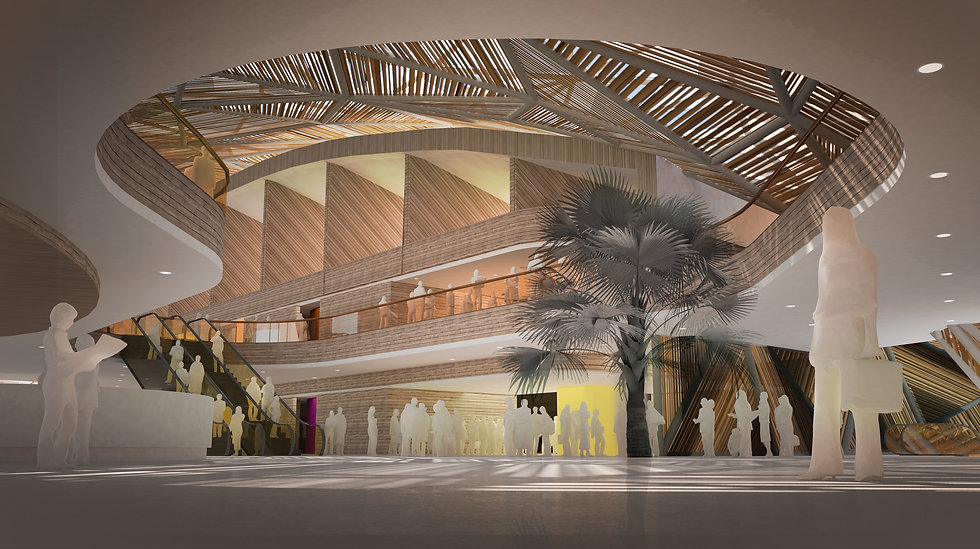 African convention centre and hotel design bush convention centre by SOUNDSPACEDESIGN Architects Sydney
