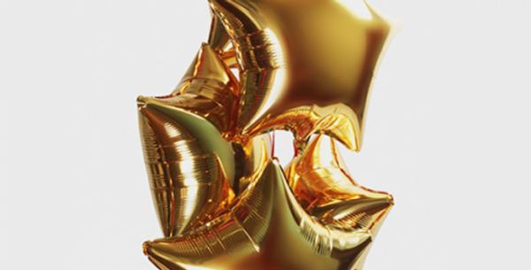 5 фольгированных шаров Звезда