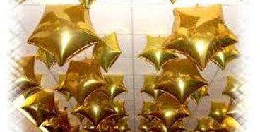 25 фольгированных шаров Звезда
