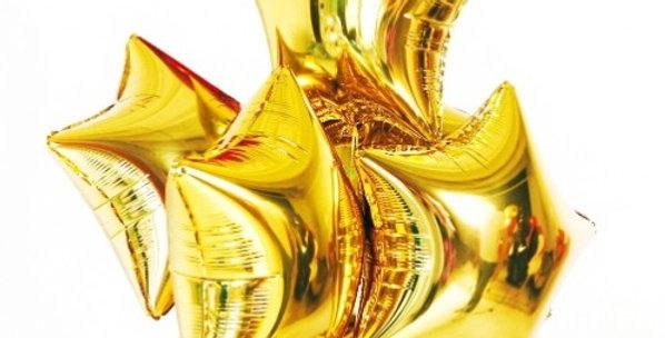 7 фольгированных шаров Звезда
