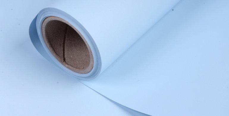 Голубая матовая бумага