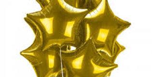 11 фольгированных шаров Звезда