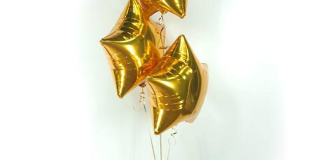 3 фольгированных шара Звезда