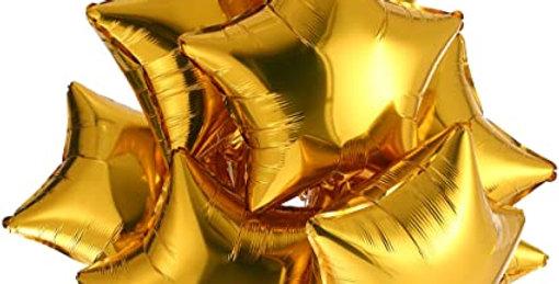 8 фольгированных шаров Звезда