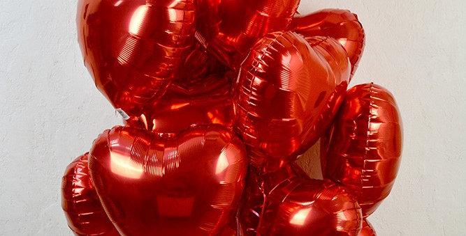 15 фольгированных шаров Сердце