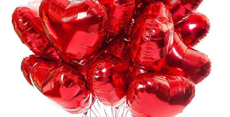 25 фольгированных шаров сердце