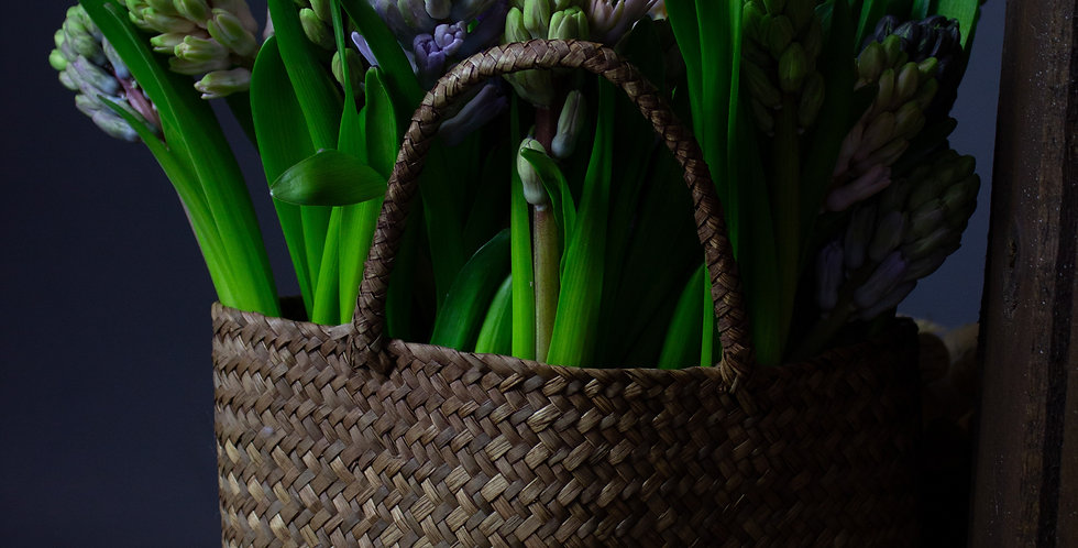 Плетеная корзинка-сумочка