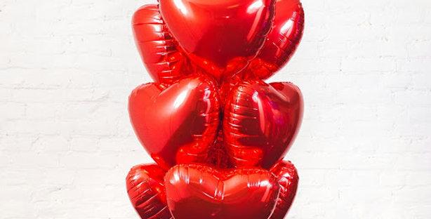 10 фольгированных шаров  сердце