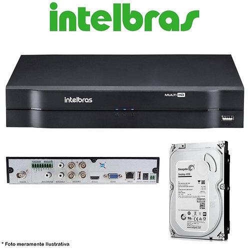 DVR 4 Canais STAND Alone Intelbras MHDX-1104 1080P Lite + HD 1TB