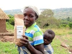 Ugandan coffee farmer