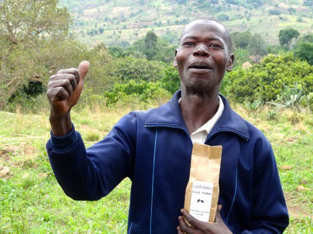 Seeds for Development coffee farmer