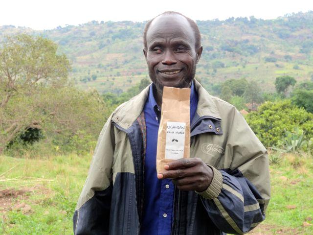 Coffee farmer in Uganda