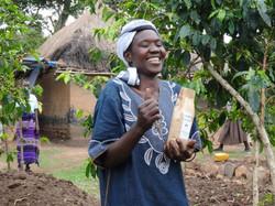 Happy Uganda Coffee Farmer