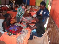Alison buying beads