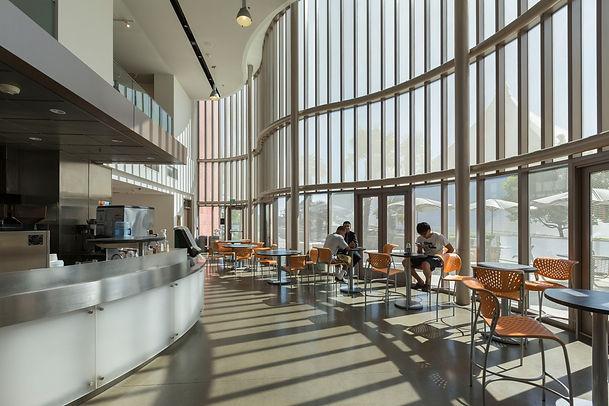 Student Center sunlit cafe