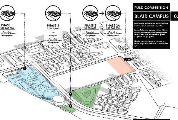 Pasadena Blair High School Phasing Plan David Goodale Architecture