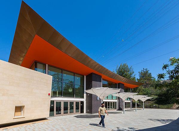 Colorful contemporary community center architecture