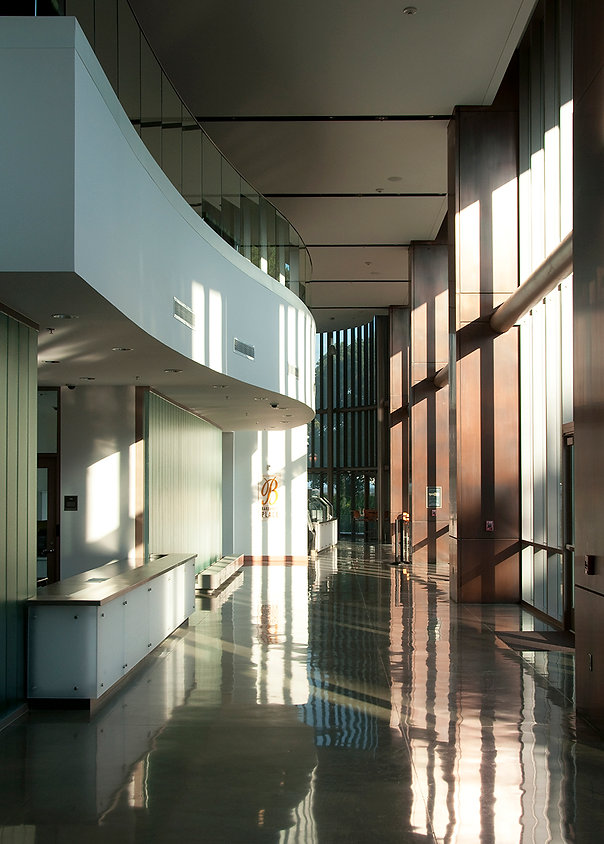 campus center architecture, light and shadow