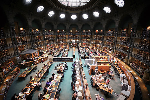 Bibliotheque Nationale Paris, Community Center with walls of history