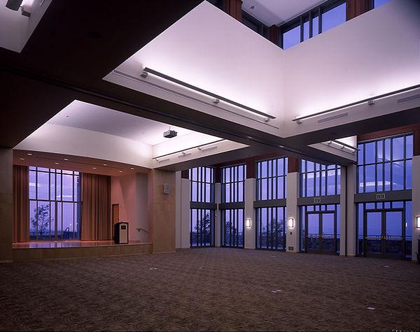 Diamond Bar community senior center multipurpose room glassy interior archtecture