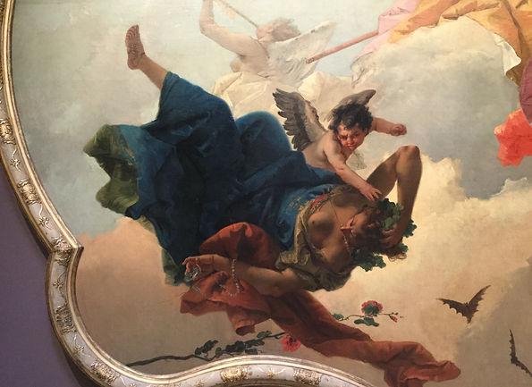 Ignorance (Vanity) in free-fall, Detail, Tiepolo, Norton Simon