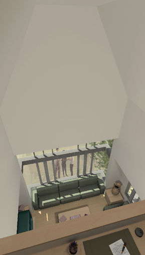 townhome mezzanine view architectural competition