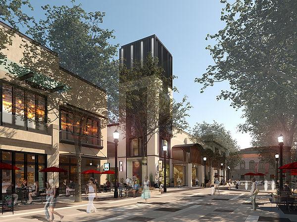 Garfield Promenade design improvements with trees