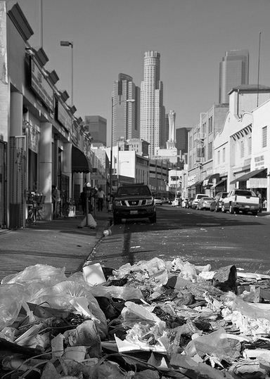Los Angeles Skid Row and the absence of publc life; Goodale Architecture Planning