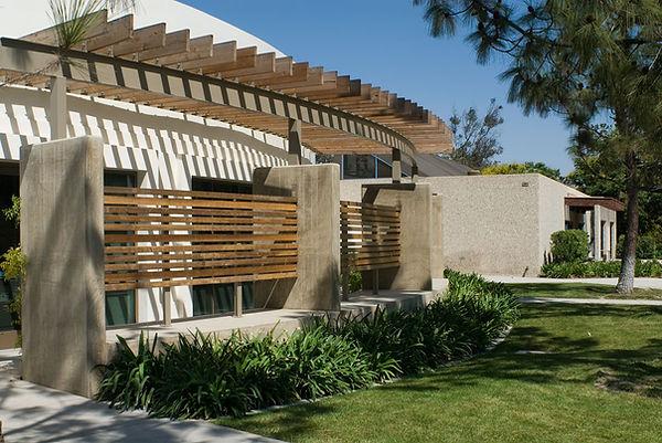 senior center architecture with circular trellis