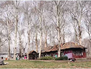 Kashmir burnt out cottage as art center