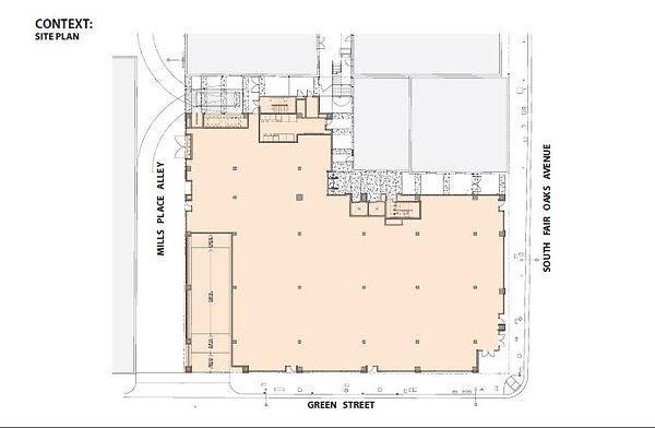 mixed use architecture site plan Pasadena