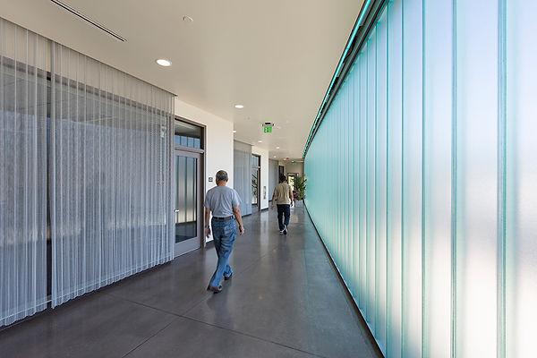 comunity center architecture channel glass
