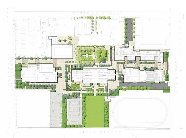 Roosevelt High School landscape masterplan