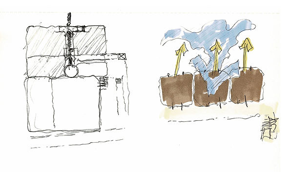 David Goodale Architect, Preliminary drawings, watercolor sketch