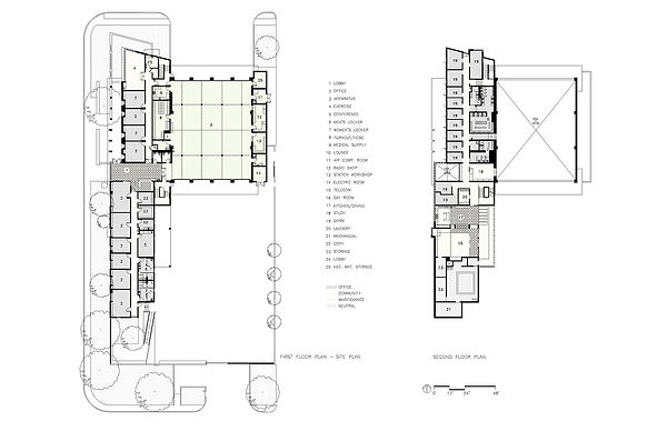 Arcadia Fire Station, Linear Floor Plan, David Goodale, Civic Planning, Public-spirited design