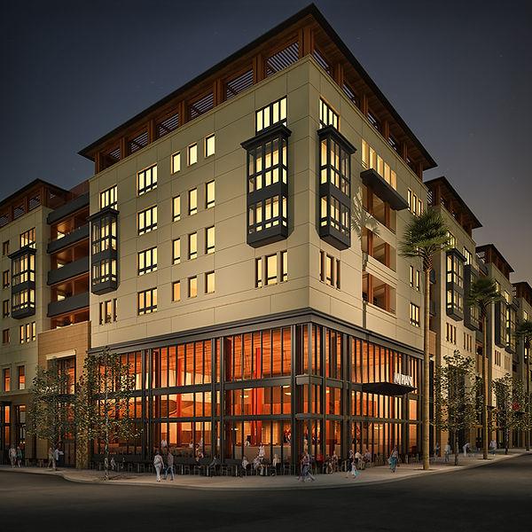 2-story glass restaurant architecture