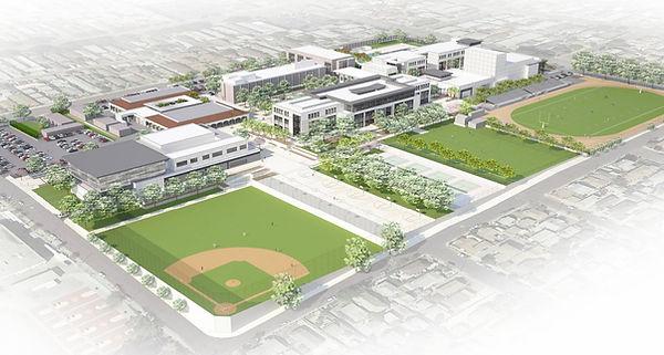 aerial view high school modernization