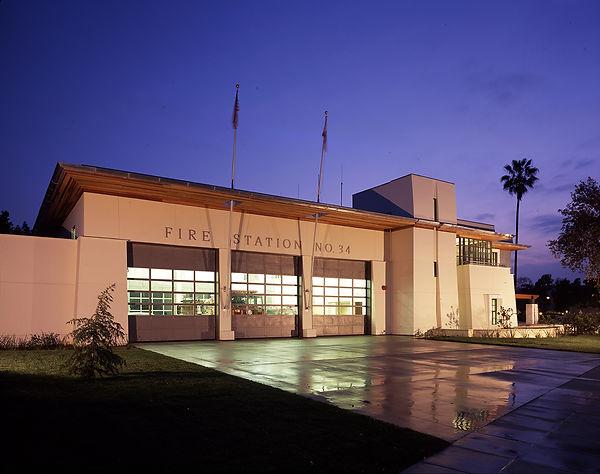 California civic style architecture, zinc, wood, plaster
