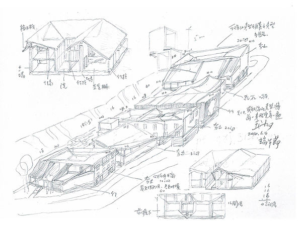 Wang Shu, Hand sketch, the body, and design method