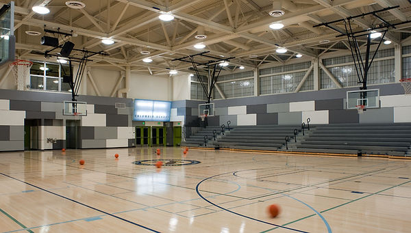 Gym interior architecture with Kalwall north wall