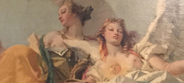 Tiepolo Nobility and Vanity Detail, Effete, Aristocratic, a pair for the wars of ages