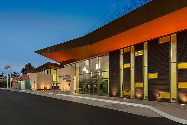 community center main arrival architecture