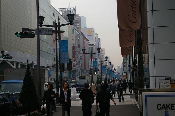 Ginza sidewalk
