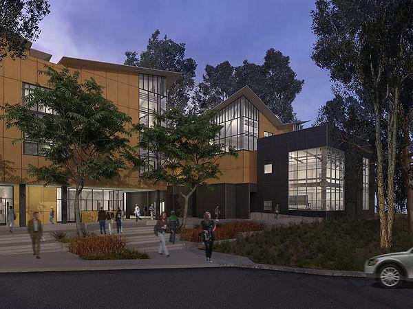 Night view academic architecture