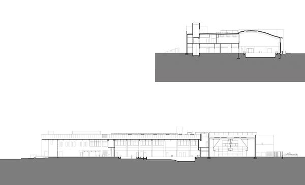 westside ymca architectural building section drawings