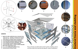 LAUSD Flexible Academic Building Competition pod and bridge assembly Goodale Architecture