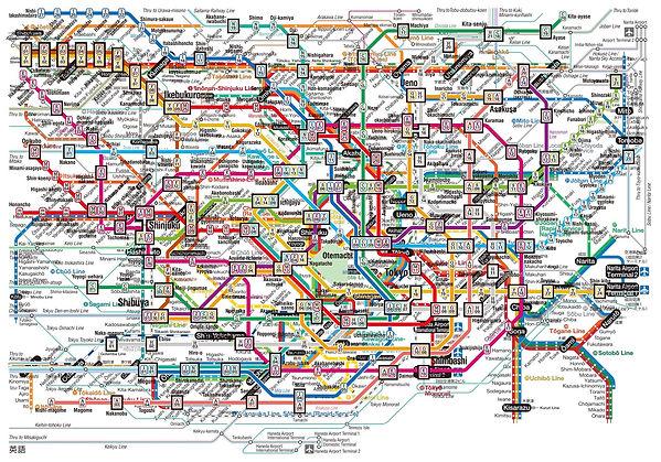 Tokyo transit map